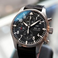 IWC Pilot's Watch 377709 Automatic Chronograph Black Dial 43 mm