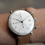 Junghans Max Bill Chronoscope Matte-Silver Dial Date 40 mm Ref.027/4502.00
