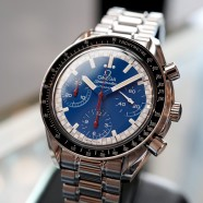 Omega Speedmaster Reduced Automatic Chronograph Michael Schumacher Blue Dial 39 mm