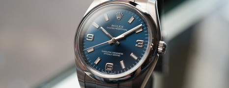 Rolex Oyster Perpetual Blue Dial 34 mm REF.114200 (2016)