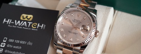 Rolex Datejust Everose Rolesor Pink Gold 18K Diamond Dial 36 mm REF.116231