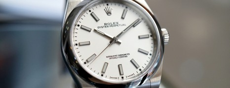 Rolex Oyster Perpetual White Dial 39 mm REF.114300