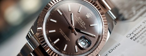 Rolex Datejust 41 Twotone Rosegold Chocolate Dial 41 mm Ref.126331 (03/2017)