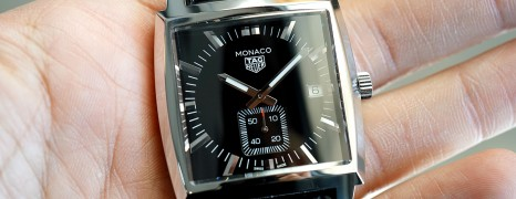 Tag Heuer Monaco Quartz Black Dial 37 mm