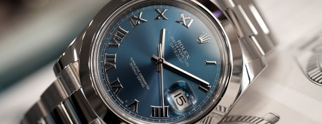 Rolex Datejust II Blue Roman Dial 41 mm ref.116300 (10/2017)