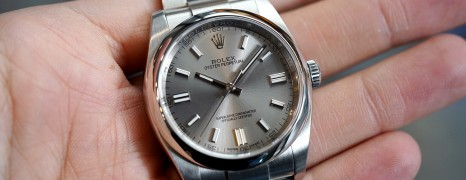 Rolex Oyster Perpetual Grey Stainless Steel Dial 36 mm REF.116000