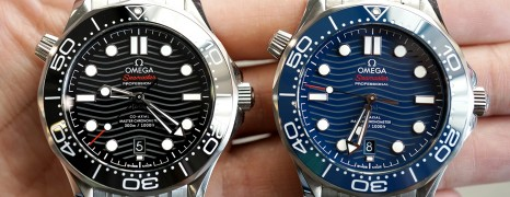 Omega Seamaster Diver 300M Omega Master Co-Axial Black/Blue Dial 42 mm (รุ่นใหม่ หน้าคลื่น)