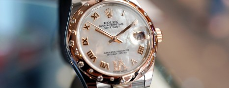 Rolex Datejust Everose Rolesor MOP VI Diamond 31 mm REF.178341