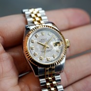 Rolex Datejust Lady Steel&Yellow Gold 18K Meteorite Diamond Dial 26 mm REF.179173