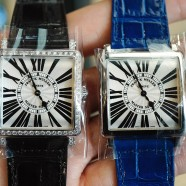 Franck Muller Master Square Diamond Quartz Guilloche Roman Dial 32 mm