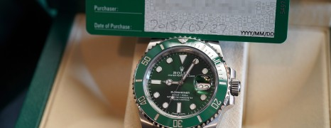 Rolex Submariner Date Green Ceramic 116610LV 40 mm (The Hulk) 08/2018