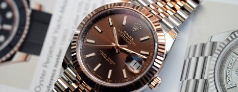 Rolex Datejust 41 Jubilee Twotone Rosegold Chocolate Dial 41 mm Ref.126331 (08/2018)