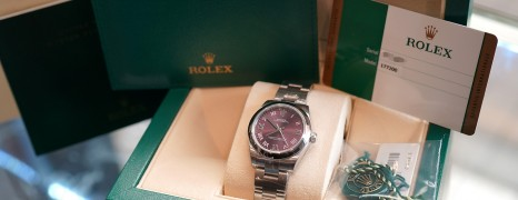 Rolex Oyster Perpetual Red Grape Dial 31 mm Ref.177200 (NEW 04/2019)