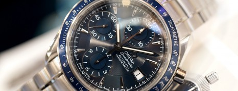 Omega Speedmaster Automatic Chronograph Date Blue Dial 40 mm