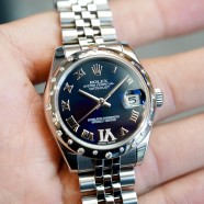 Rolex Lady Datejust Blue Dial Diamond Bezel 31 mm Ref. 178344 (เพชรกระจาย เพชร VI)