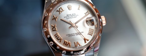 Rolex Datejust Everose Rolesor MOP Diamond Bezel 31 mm REF.178341