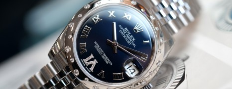 Rolex Lady Datejust Blue Dial Diamond Bezel 31 mm Ref. 178344 (เพชรกระจาย เพชร VI) 98%