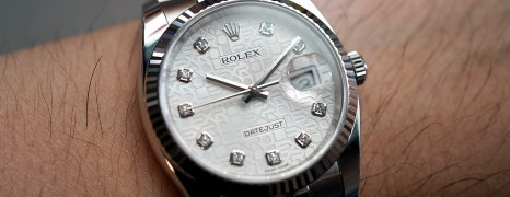Rolex Datejust Jubilee Silver Com Diamond Dial 36 mm Ref.116234