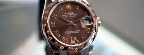 Rolex Datejust Everose Rolesor Chocolate VI Diamond 31 mm REF.178341