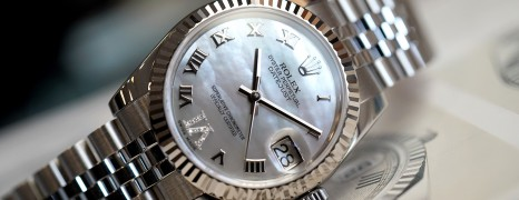 Rolex Datejust White MOP Roman Dial VI Diamonds 31 mm REF.178274