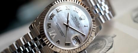 Rolex Datejust White MOP Roman Dial VI Diamonds 31 mm REF.178274