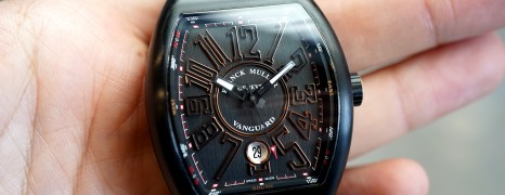Franck Muller Vanguard Black Titanium and 18k Rose Gold 41 mm Ref.V 41 SC DT TT BR NR 5N