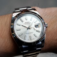 Rolex Datejust II WG Bezel Silver Dial 41 mm ref.116334