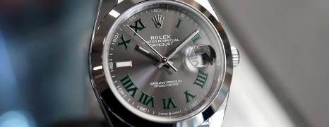 Rolex Datejust 41 Jubilee Slate Grey Roman (Wimbledon) Dial 41 mm Ref.126300 (NEW Thai AD 08/2019)