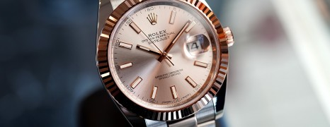 Rolex Datejust 41 Twotone Rosegold Sundust Dial 41 mm Ref.126331 (02/2019)