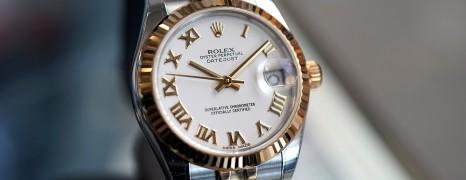 Rolex Datejust Jubilee 2K White Roman Dial 31 mm