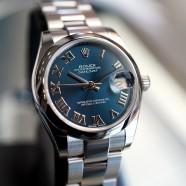 Rolex Datejust Blue Roman Dial Boy Size 31 mm REF.178240 (02/2018)