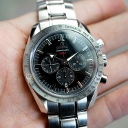 "Omega Speedmaster Broad Arrow ""1957"" Co-Axial Chronograph Black Dial 42 mm"