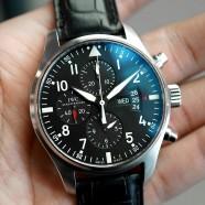 IWC Pilot 377701 Automatic Chronograph Black Dial 43 mm