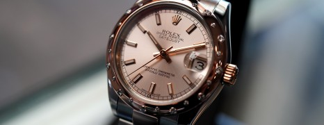 Rolex Datejust Everose Rolesor Champagne Dial Diamond Bezel 31 mm REF.178341