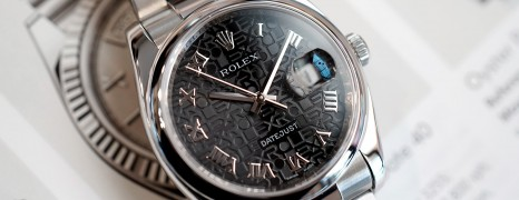 Rolex Datejust Black Com Roman Dial King Size 36 mm Ref.116200