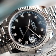 Rolex Datejust 41 White Gold Bezel Black Dial Diamond 41 mm Ref.126334 (06/2019)