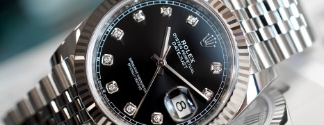 Rolex Datejust 41 White Gold Bezel Black Dial Diamond 41 mm Ref.126334 (06/2019)