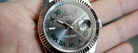 Rolex Datejust 41 Slate Grey Roman (Wimbledon) Dial 41 mm Ref.126334 (NEW Thai AD 09/2019)