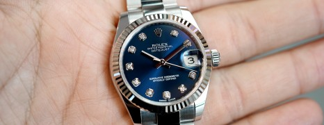 Rolex Datejust Blue Dial Diamond 31 mm REF.178274 (08/2016)