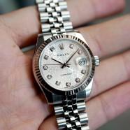 Rolex Datejust Jubilee Silver Com Diamond 31 mm REF.178274 (12/2015)