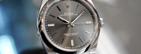 Rolex Oyster Perpetual Dark Rhodium Gray Dial 39 mm REF.114300 (06/2019)