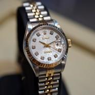 Rolex Datejust 2K Lady Jubilee Silver Diamond Dial 26 mm REF.69173