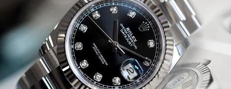Rolex Datejust 41 White Gold Bezel Black Dial Diamond 41 mm Ref.126334 (NEW THAI AD 08/2019)