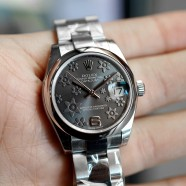 Rolex Datejust Lady Grey Floral Dial 31 mm REF.178240 (NEW THAI AD 09/2019)