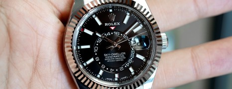NEW Full Sticker!!! Rolex Sky-Dweller Black Dial 42 mm Ref.326934 (ใบไทย 11/2019)