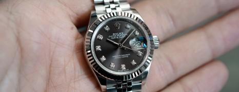Rolex Datejust Jubilee Dark Grey Dial Diamond 28 mm REF.279174 (07/2017)