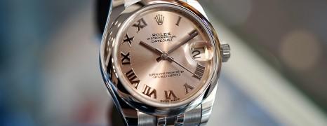 Rolex Datejust Jubilee Pink Roman Dial Boy Size 31 mm REF.178240 (Thai AD 04/2018)