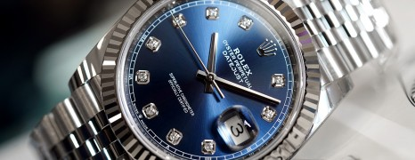 Rolex Datejust 41 Jubilee White Gold Bezel Blue Dial Diamond 41 mm Ref.126334 (NEW THAI AD 09/2019)