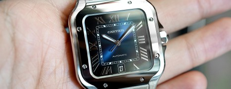 NEW!! Cartier Santos De Cartier Large Size Blue Dial 39.8 mm Ref.WSSA0030 (Thai AD 12/2019)