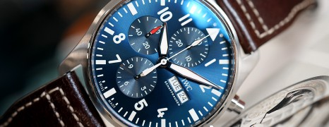 "IWC Pilot's Watch 377714 Automatic Chronograph Blue Dial Edition ""Le Petit Prince"" 43 mm (11/2018)"